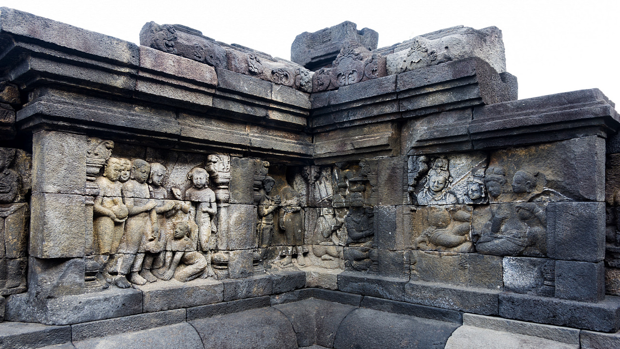 Borobudur reliefy