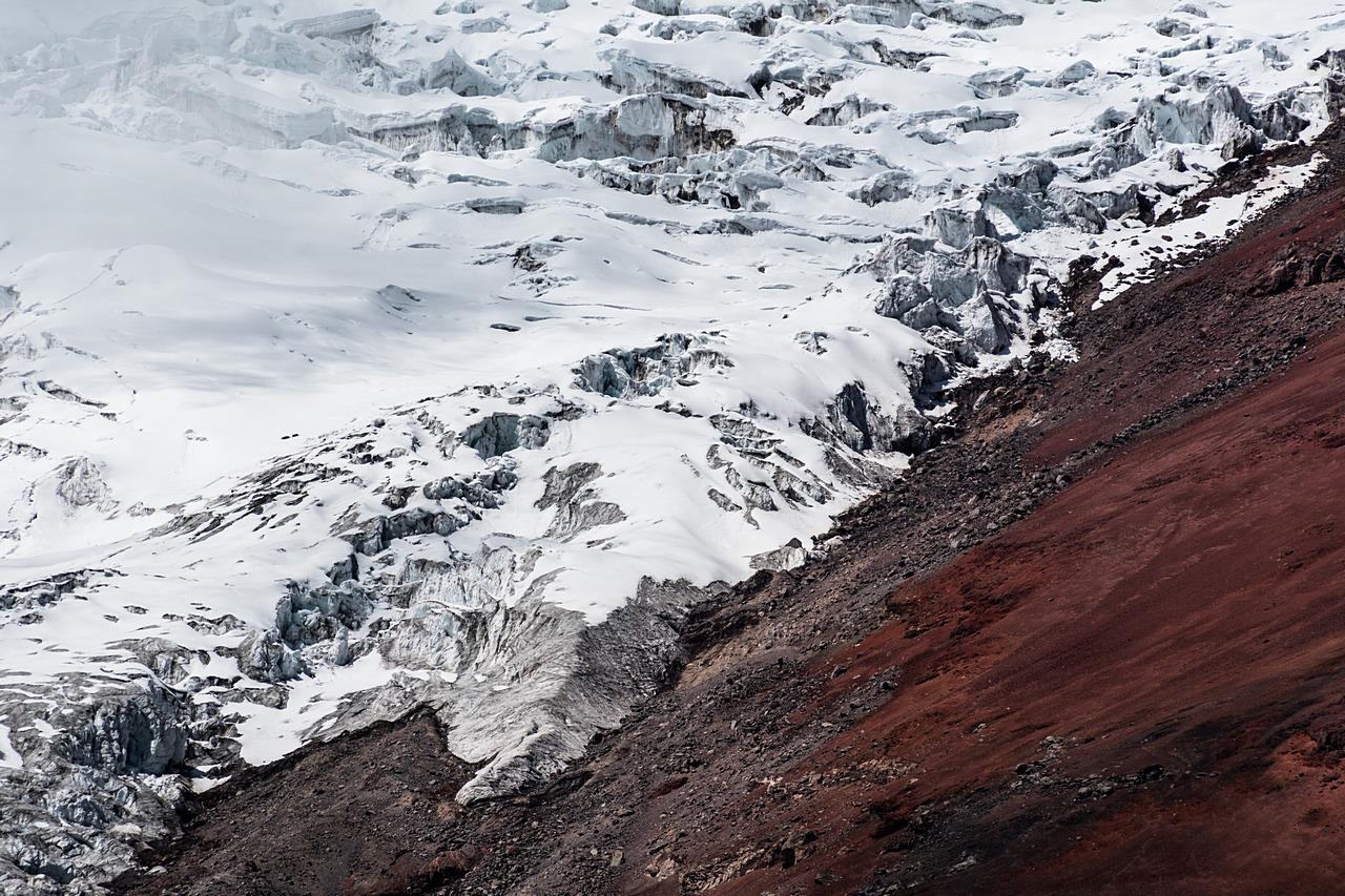 Znikający lodowiec na Cotopaxi