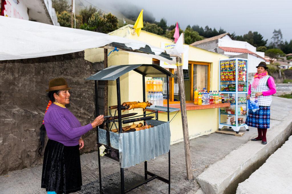 W Ekwadorze świnki morskie są popularną przekąską serwowaną w przydrożnych barach
