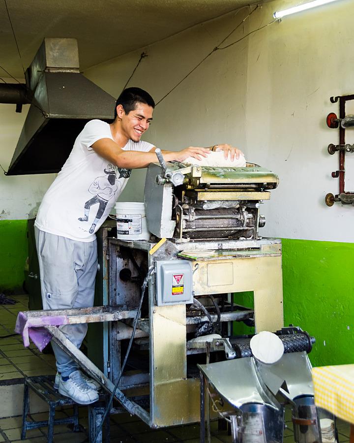 Produkcja ciasta na tortillas