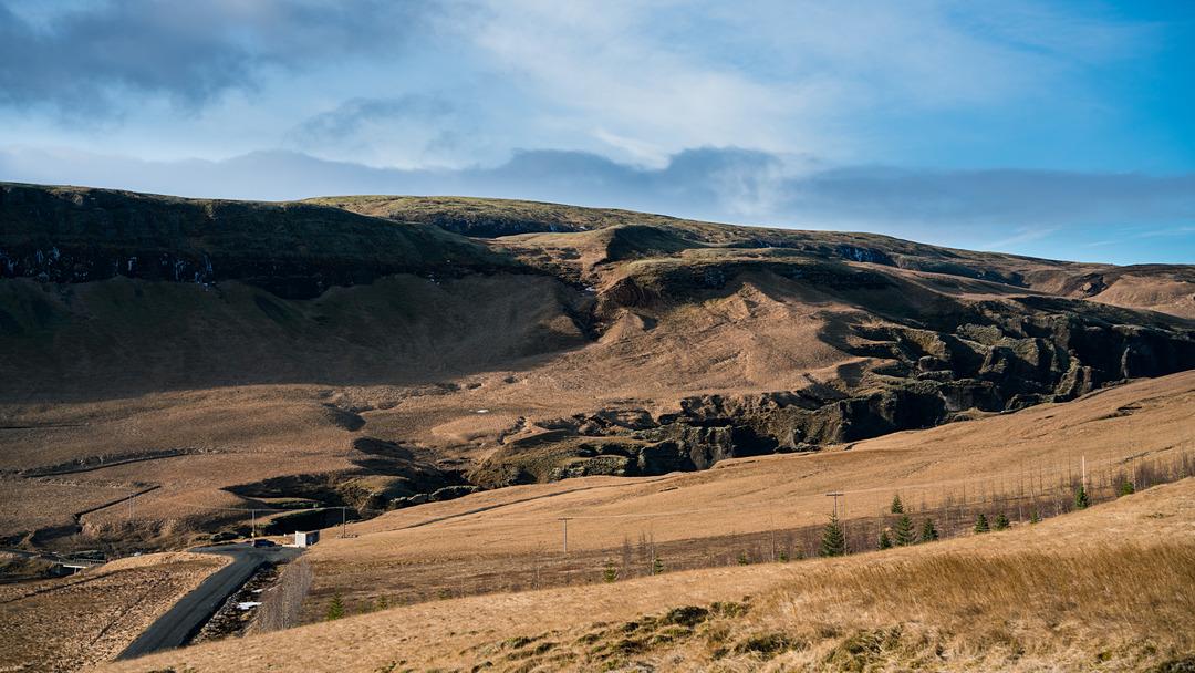 Widok na Fjaðrárgljúfur