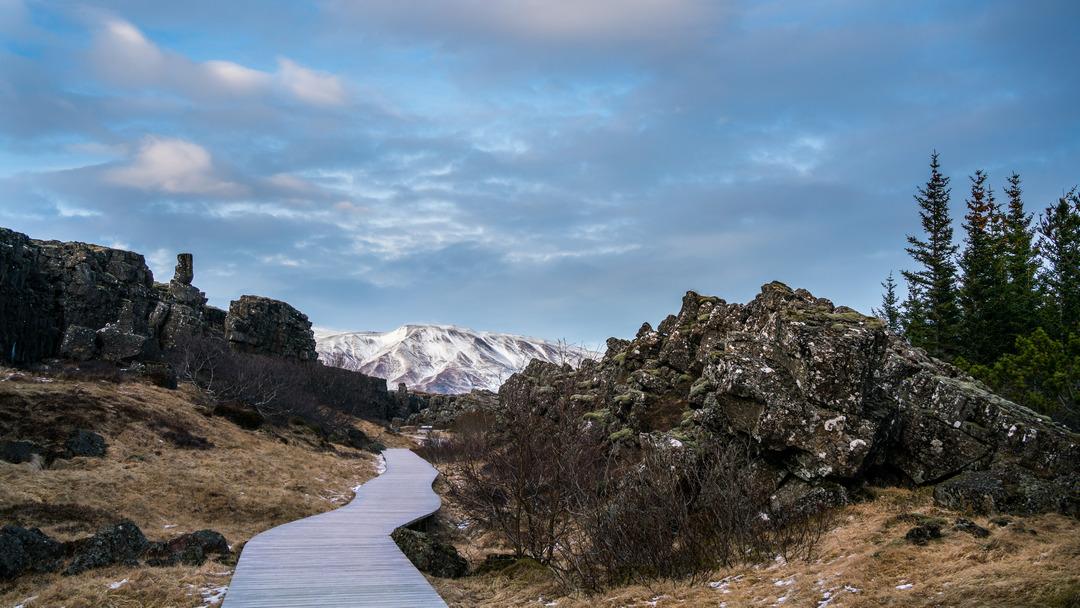 Þingvellir wąwóz Almannagjá
